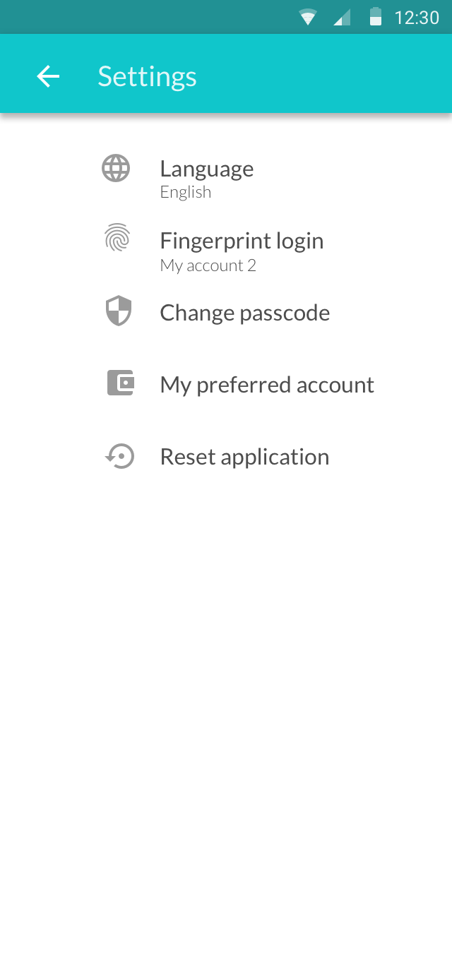 Settings - Android