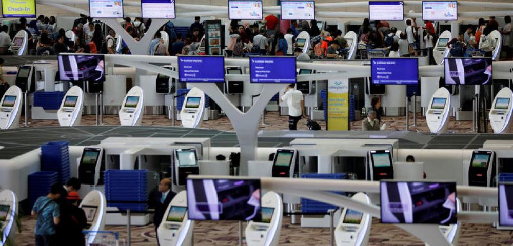 Automata becsekkolás a Changi repülőtéren